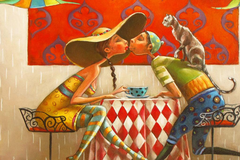 """Brasserie"" Fine art painting by Mariana Kalacheva"