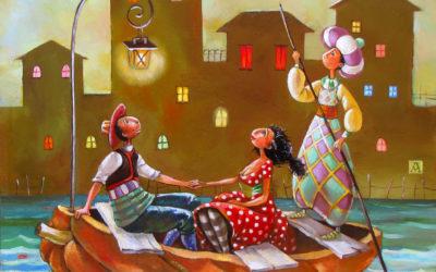 A little night music - fine art paintings Mariana Kalacheva
