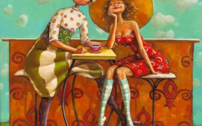 Cafe of hopes - fine art paintings Mariana Kalacheva