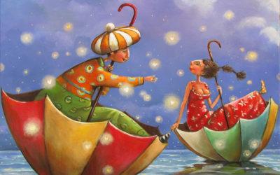 Its raining love - fine art paintings Mariana Kalacheva