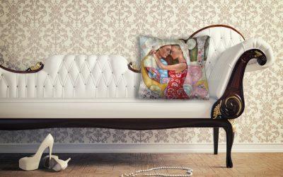 Sofa & Satin cushion