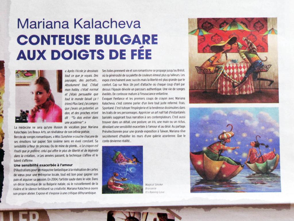 Conteuse Bulgare aux doigts de Fée; Fine art painting by Mariana Kalacheva
