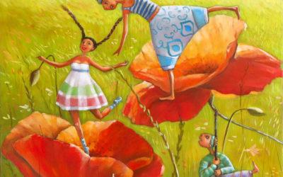 Poppy sunday - fine art paintings Mariana Kalacheva