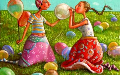 So many balloons - fine art paintings Mariana Kalacheva