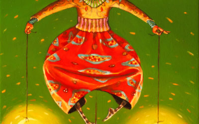 The equilibrist - fine art paintings Mariana Kalacheva