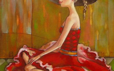 The ballet dancer in love - fine art paintings Mariana Kalacheva