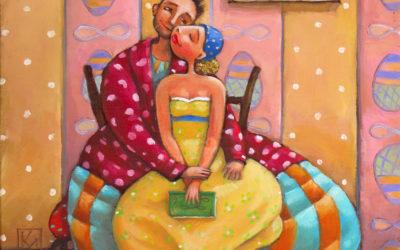 The pink room - fine art paintings Mariana Kalacheva