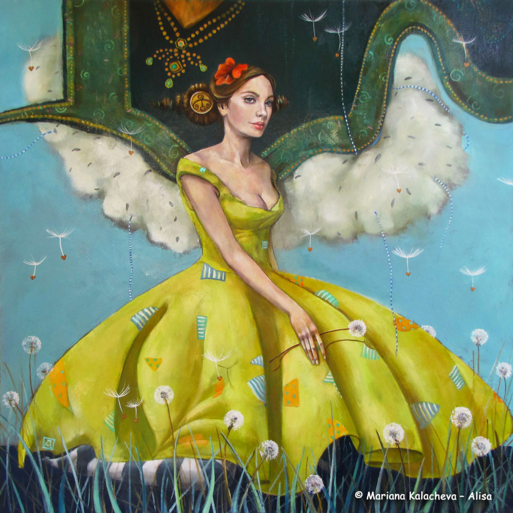 """The tamer of clouds"" Fine art painting by Mariana Kalacheva"