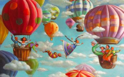 The tightrope dancer - fine art paintings Mariana Kalacheva