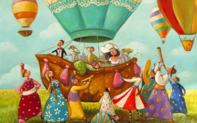 The celebration - fine art paintings Mariana Kalacheva