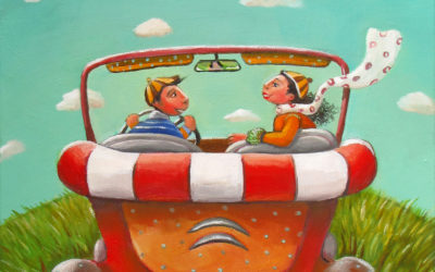 The hidden road - fine art paintings Mariana Kalacheva