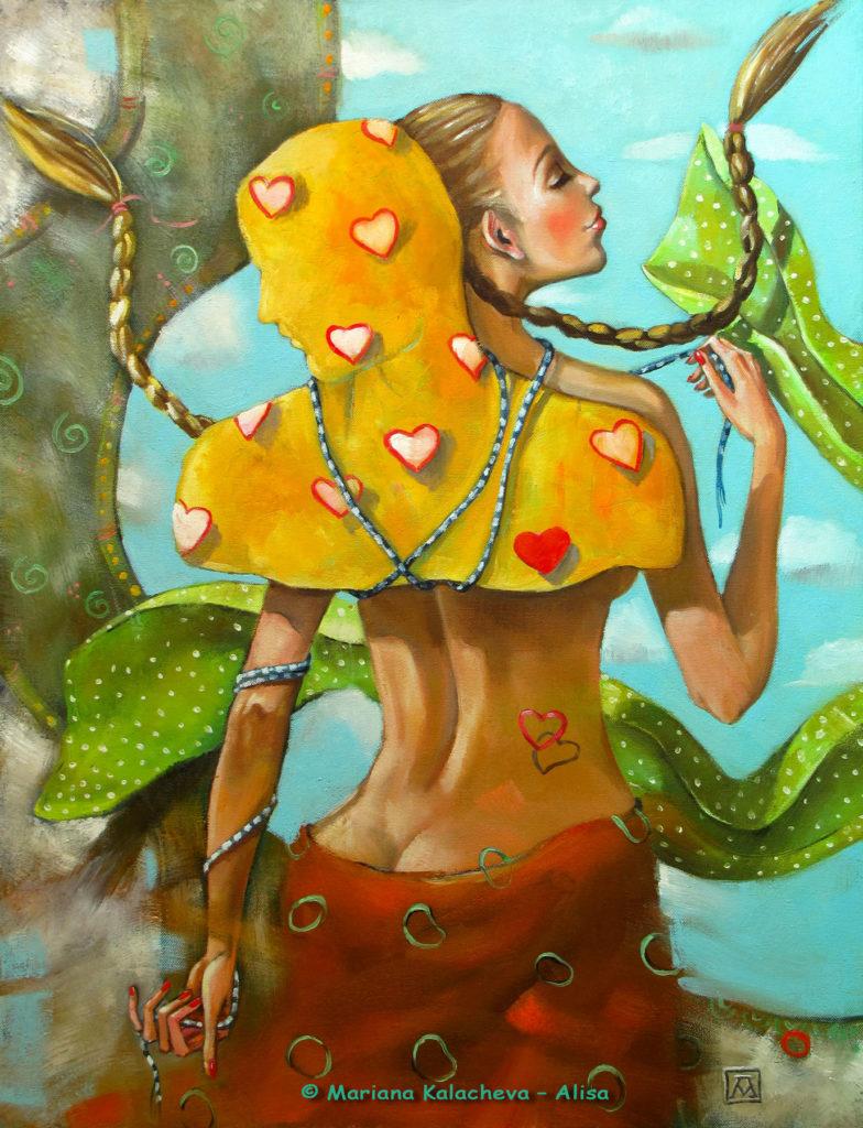 """""""To tame a man"""" Fine art painting by Mariana Kalacheva"""