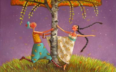 Under the birch - fine art paintings Mariana Kalacheva
