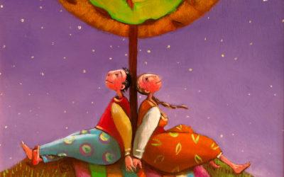 Under the stars - fine art paintings Mariana Kalacheva
