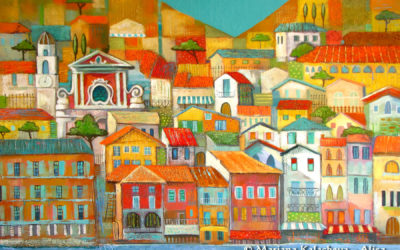 Villefranche -Sur-Mer, Fine art painting by Mariana Kalacheva;