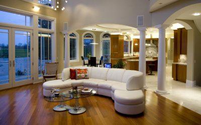 Interiors and cushions; satin cushion