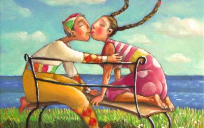 The kiss - fine art paintings Mariana Kalacheva