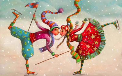 The Ice Rink - Christmas greeting card