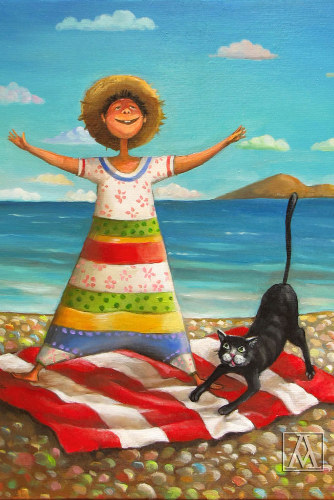 Freedom; Fine art painting by Mariana Kalacheva