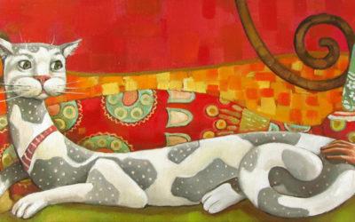 Tell me a story; Fine art painting by Mariana Kalacheva