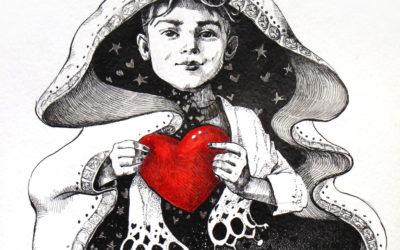 I will find you - drawing, fine art by Mariana Kalacheva