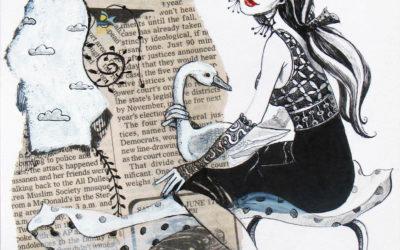 Leda, Fine art painting by Mariana Kalacheva