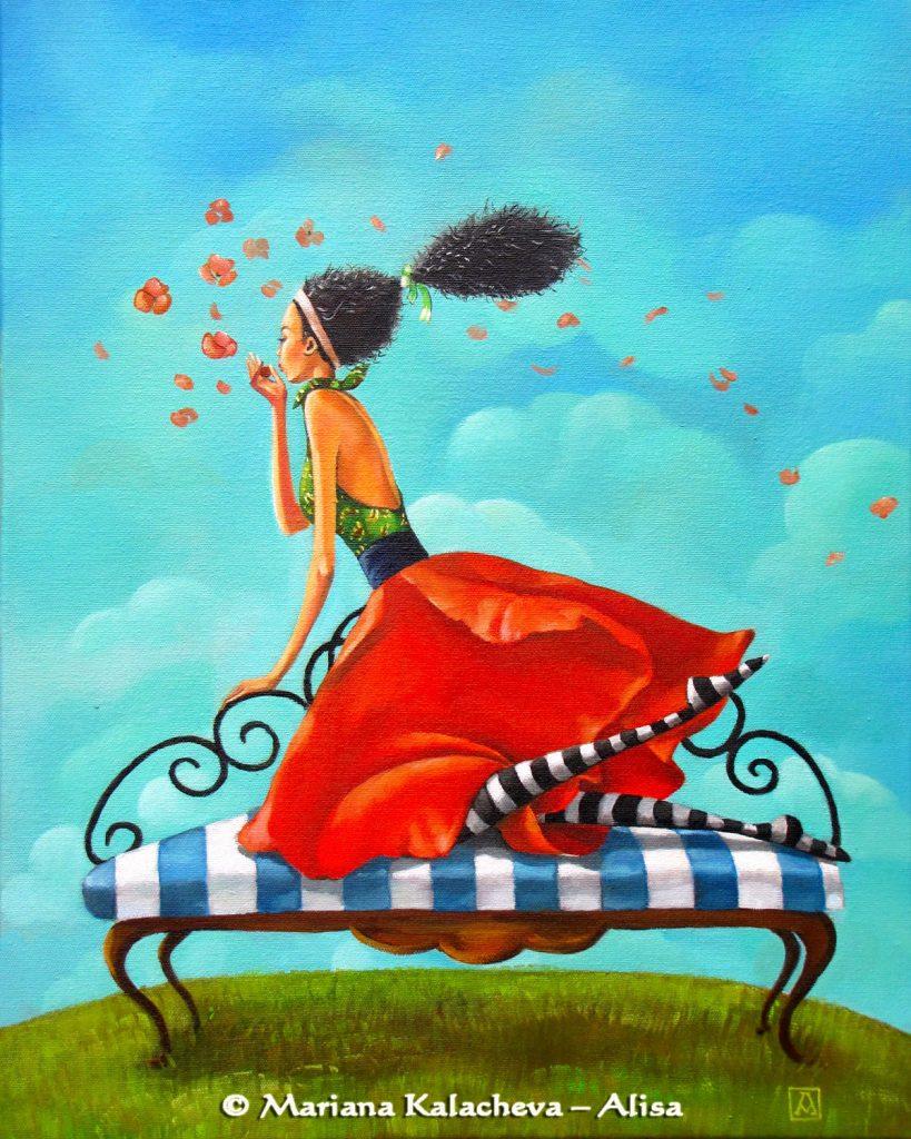 I will always love you, Fine art painting by Mariana Kalacheva