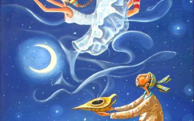 The Genie's night; Fine art painting by Mariana Kalacheva