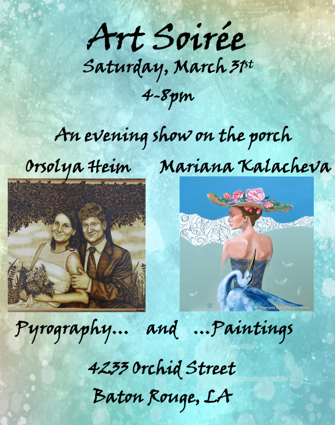 """Art Soirée"" – one day show by Mariana Kalacheva and Orsolya Heim"