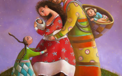 Lunar family - fine art paintings Mariana Kalacheva