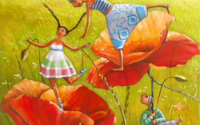 Poppy sunday - fine art paintings Mariana Kalacheva