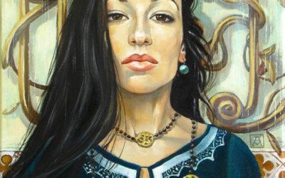 Teodora; Fine art painting by Mariana Kalacheva;