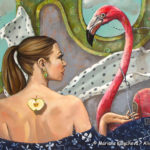 """To tame a flamingo"" fine art by Mariana Kalacheva"
