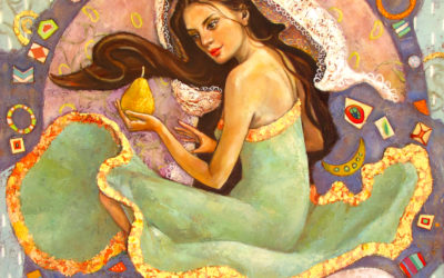 With a taste of pears - fine art paintings Mariana Kalacheva