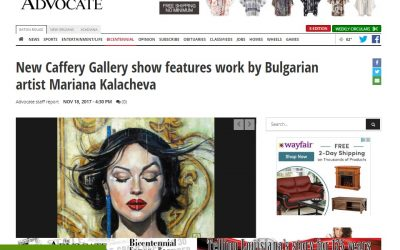 The ADVOCATE newspaper Caffery Gallery; 11/18/2017; Fine art paintings by Mariana Kalacheva