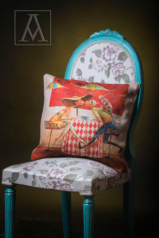 Cushion by satin