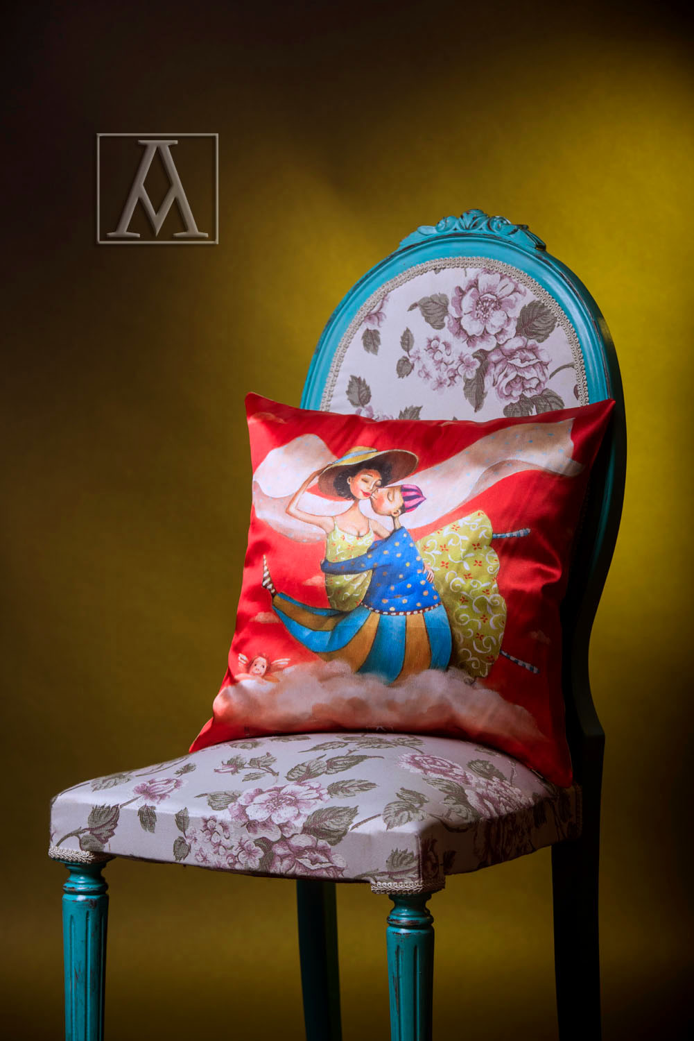 Cushion by satin