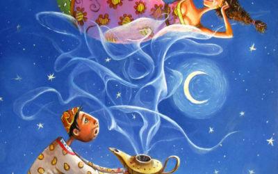 Magical smoke; Fine art painting by Mariana Kalacheva
