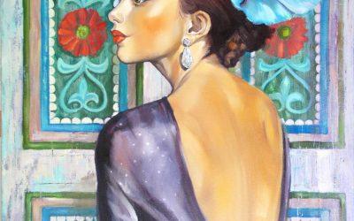 Fleur, Fine Art painting by Mariana Kalacheva
