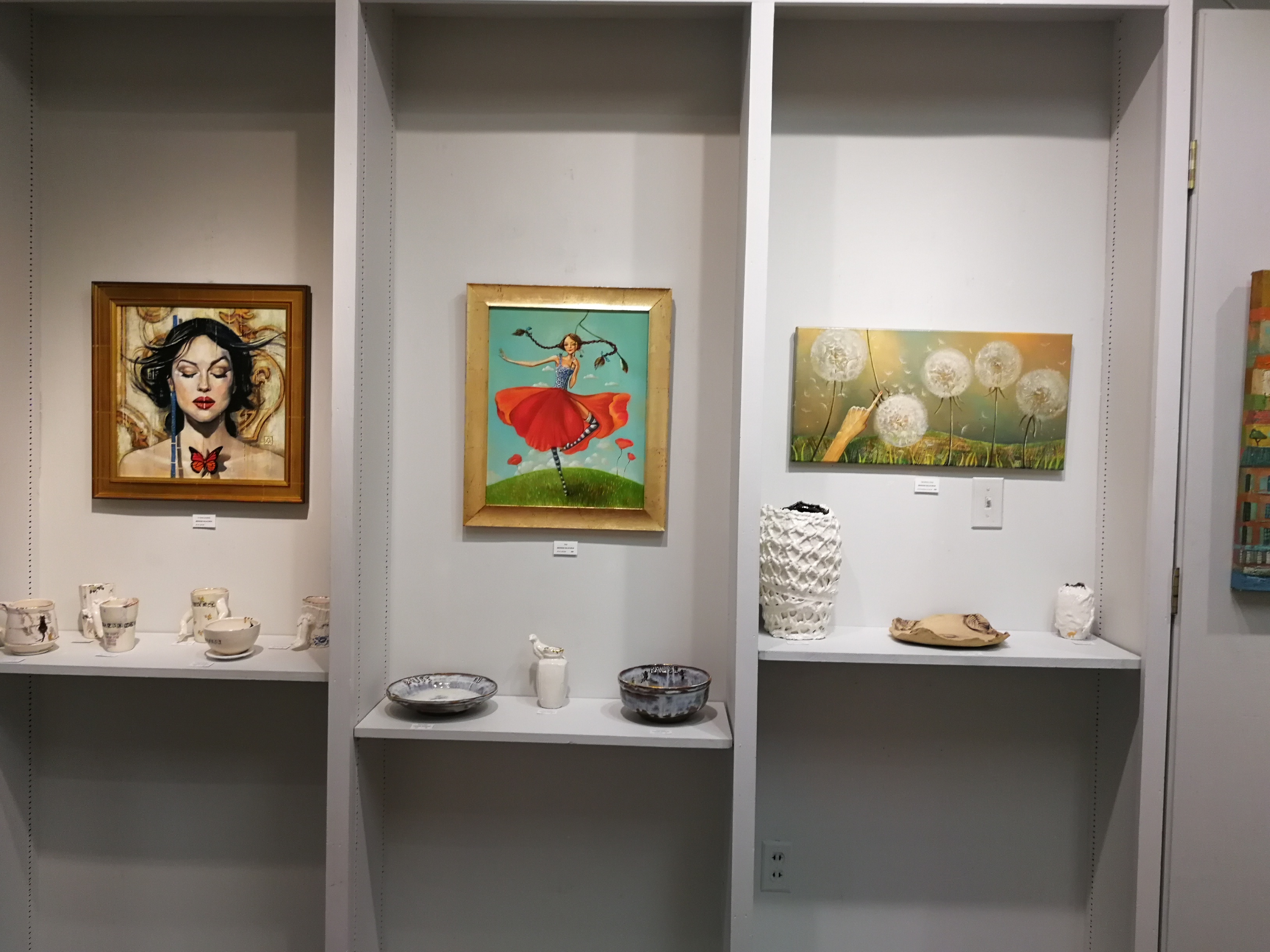 """""""Whimsical"""" art exhibition in Caffery Gallery by Mariana Kalacheva at White Light Night"""