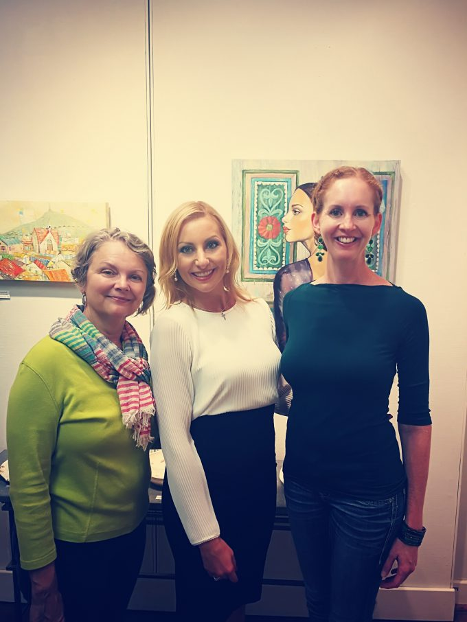 """Whimsical"" art exhibition in Caffery Gallery by Mariana Kalacheva at White Light Night"