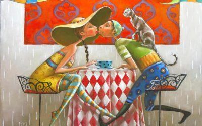 Brasserie Fine art painting by Mariana Kalacheva