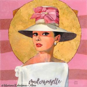 Mademoiselle_watm_20x20_inches_resin_acriyc_canvas